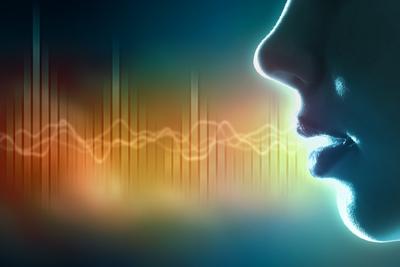 Voice-sound-wave